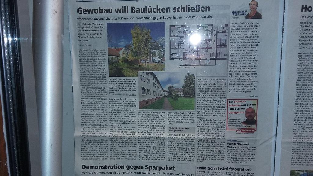 April 2016 Oberhessische Presse - GeWoBau
