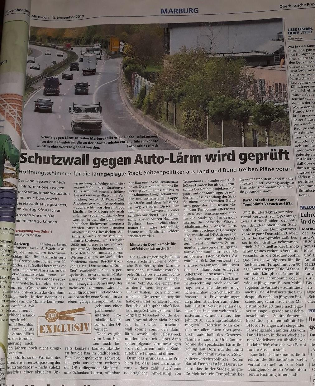 13. Nov. 2019 OP Schutzwall