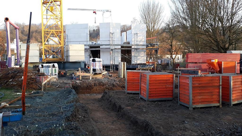 7. März 2021 - Bodenarbeiten für das REH